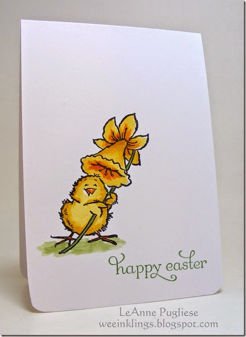 LeAnne Pugliese WeeInklings Happy Easter Penny Black Chick and Daffodil 2