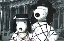 Imagen Snoopy vestido  por grandes diseñadores