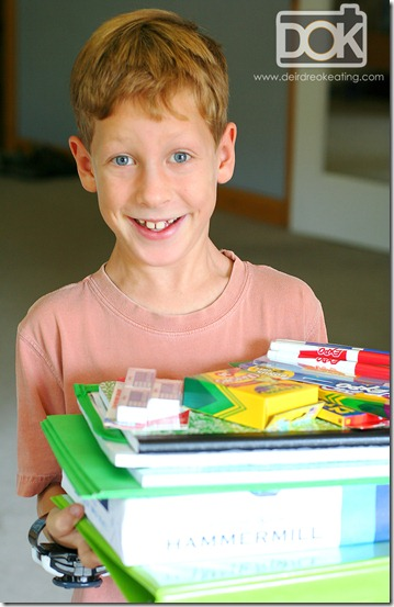 sean and school supplies