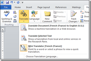 Translating Content on the Fly Using Office 2010 and Office 365 1