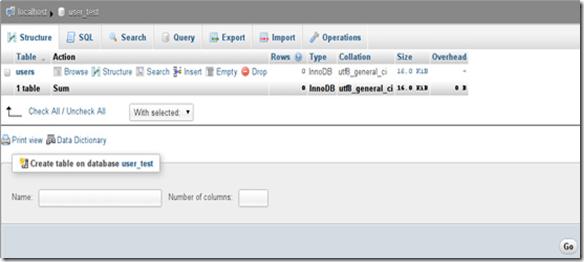 membuat tabel database phpMyAdmin