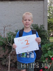 Boy C First Day of 2nd Grade