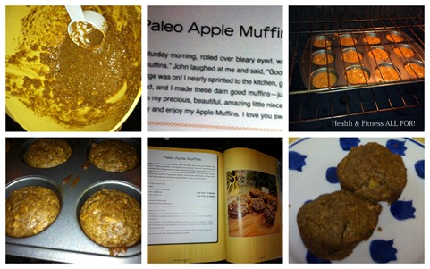 Paleo Apple Muffins collage