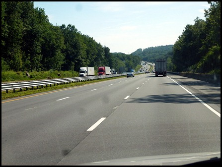 1 - I84 or I90 thru Conn and Mass(toll)