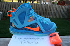 nike lebron 9 ps elite lebron pe china 3 05 Closer Look at Nike LeBron 9 P.S. Blue Flame and Tennis Balls PEs