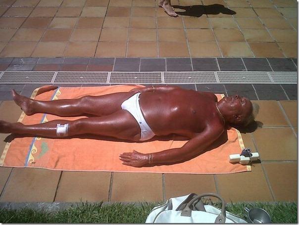 Acho que alguém andou dormindo no sol