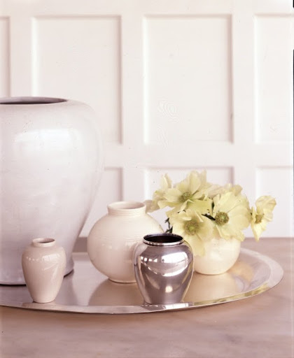 A selection of sphere-shape vases. (Martha Stewart Living)