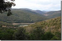 Vue sur le barrage des Olivettes (barrage d'écrettage de crues)