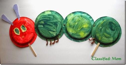 very hungry caterpillar plate craft