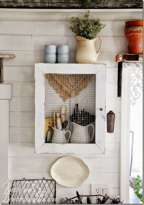 Repurposed Wooden Crate into Rustic Farmhouse Cupboard via Knick of Time