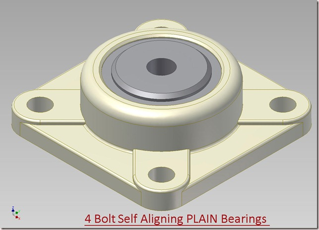 4 Bolt Self Aligning PLAIN Bearings