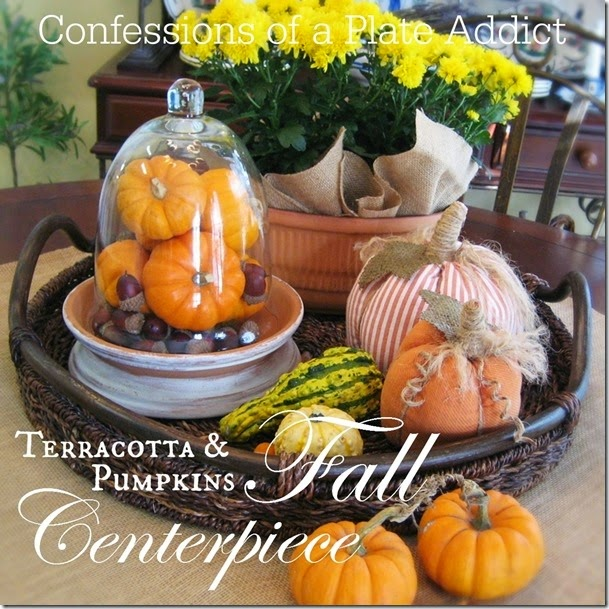 CONFESSIONS OF A PLATE ADDICT Terracotta and Pumpkins Fall Centerpiece