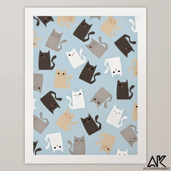 Scattercats Art Print by August Decorous via allonsykimberly.com