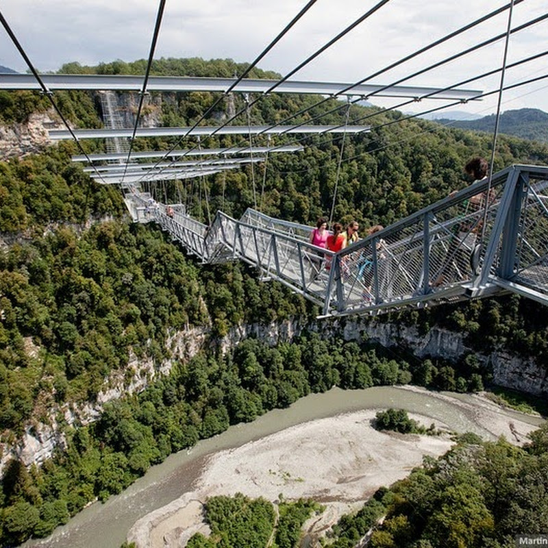 World's Longest Pedestrian Suspension Bridge in Russia