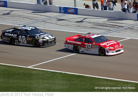 'Jimmie Johnson and Ryan Newman' photo (c) 2012, Terri  Hickox - license: http://creativecommons.org/licenses/by-nd/2.0/
