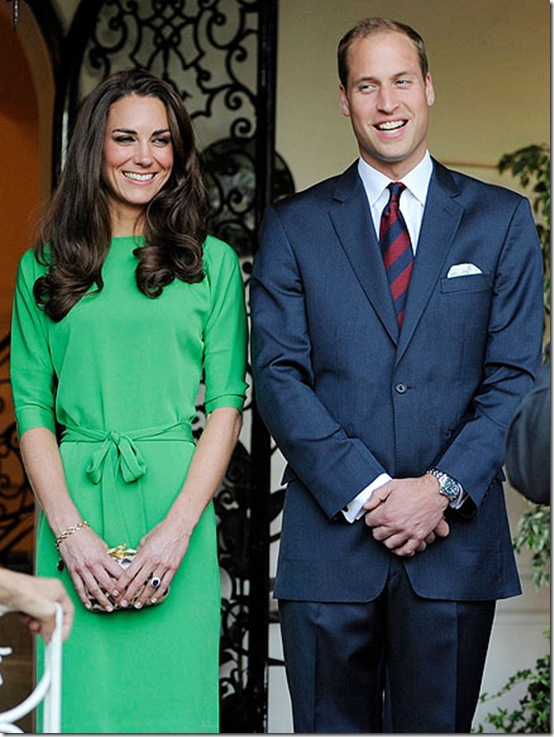 Kate Middleton Green Wrap Dress Diane Von Furstenberg