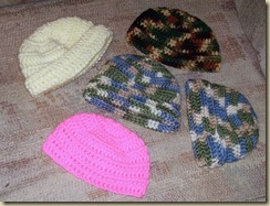 Hats vari pink white