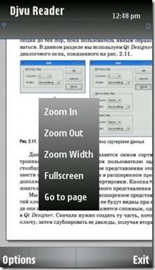 PDF-DJVU reader symbian