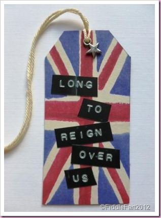 Diamond Jubilee Gift tag  Union Flag Gift tag