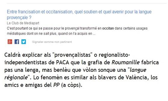 francizacion e occitanizacion provençalistas