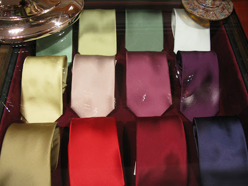 Solid and more neutral ties, just the thing we need.