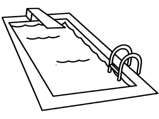 dibujos de piscinas para colorear