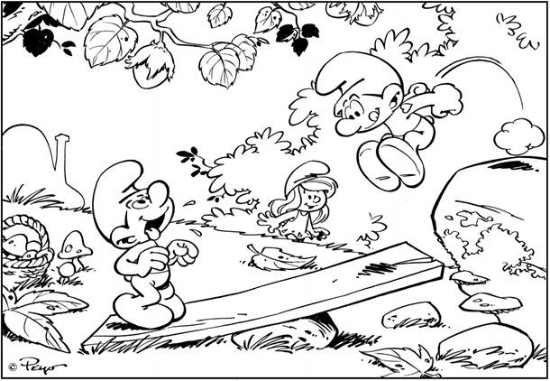 Os Smurfs em dez imagens para colorir,desenhoseriscos.blogspot.com