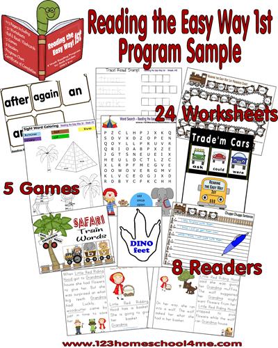 Reading the Easy Way 1st Grade Program Sample