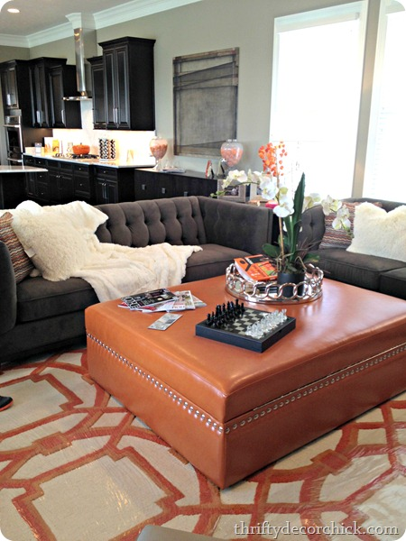decorating with orange and gray