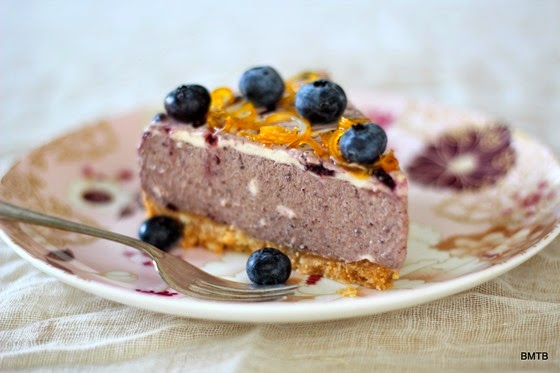No Bake Blueberry Cheesecake by Mel from Baking Makes Things Better