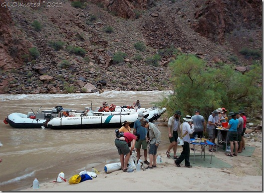 10 Lunch at Lower Tuna camp ~RM100.1 Colorado River trip GRCA NP AZ (1024x747)