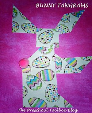 Bunny-Tangrams from The Preschool Toolbox