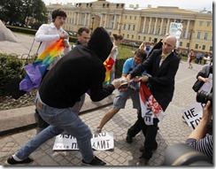 Russia LGBTI  protest
