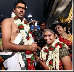 indin crickter ashwin wedding photo