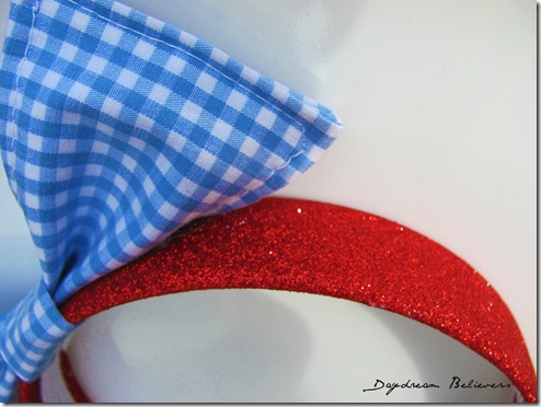 ruby red slipper inspired headband