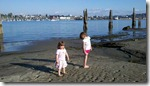 The girls at Jetty Island