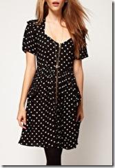 ASOS Polka Dot Zip Front Dress