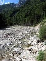 Miren tok potoka nad sotesko