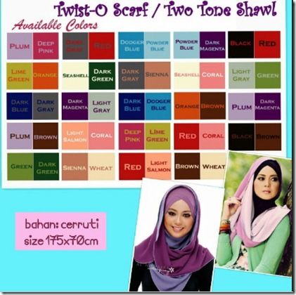 list warna