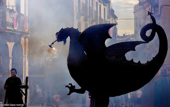 El Drac (un dels més antics de Catalunya amb més de 300 anys).Festa major de Solsona.Solsona, Solsonès, Lleida