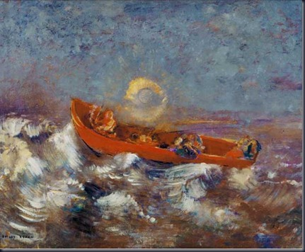 Odilion-Redon-Red-Boat
