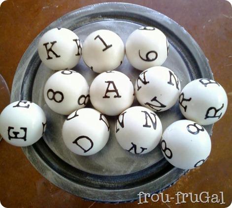Knock Off Pier 1 Letter Balls