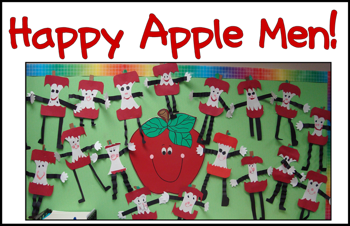 happy apple men