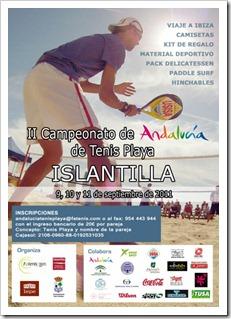 Valero-Cardona y González-Gago ganan el Campeonato de Andalucia Tenis Playa Islantilla.