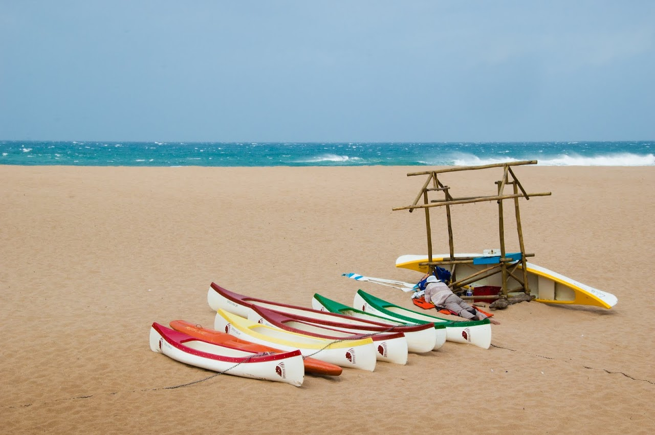 Boats on the Wild Coast beach