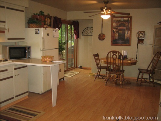 "The kitchen at the home inspection, ""before"""