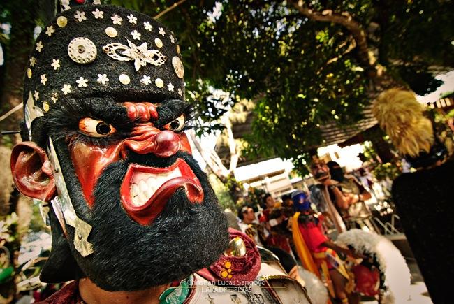 Grimace at Moriones Festival