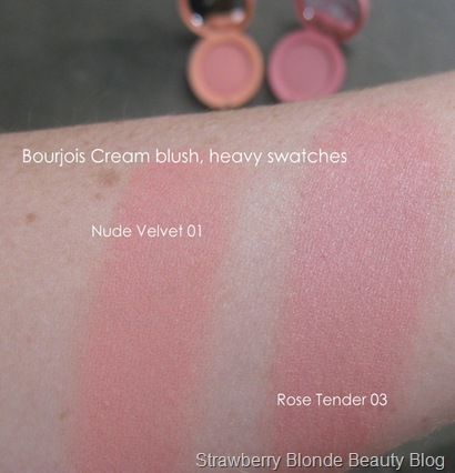 Bourjois-cream-blush-swatches -pink-coral