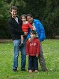 Michael, Eidan (2), Maria, and Kai (7) at the University of Pennsylvania, Nov. 2007