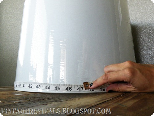 Wood Grain Lampshade Measure